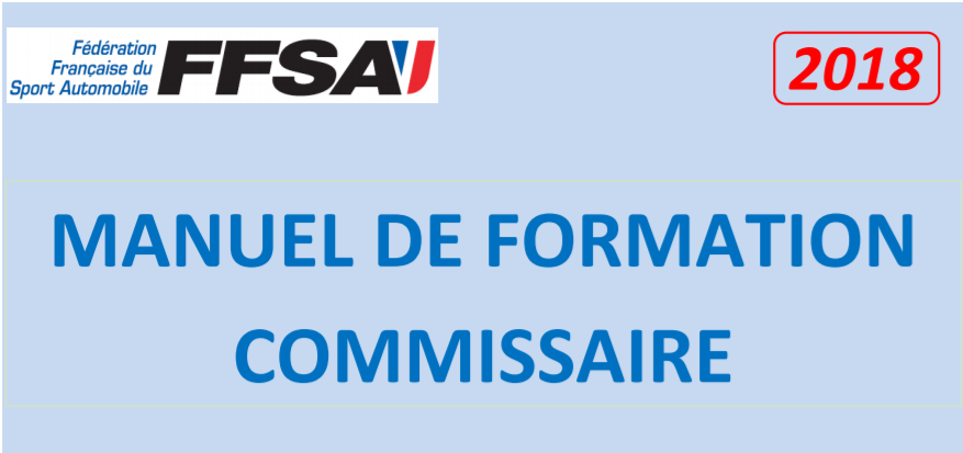 Manuel de formation commissaire - 2018